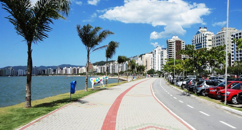 Avenida Beira Mar Norte em Florianópolis