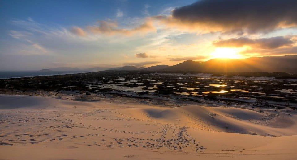Pôr do Sol nas dunas da Joaquina