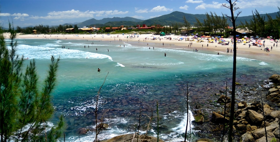 Praia da Ferrugem em Garopaba SC