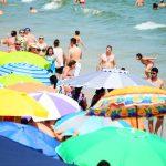 Praia lotada em Florianópolis