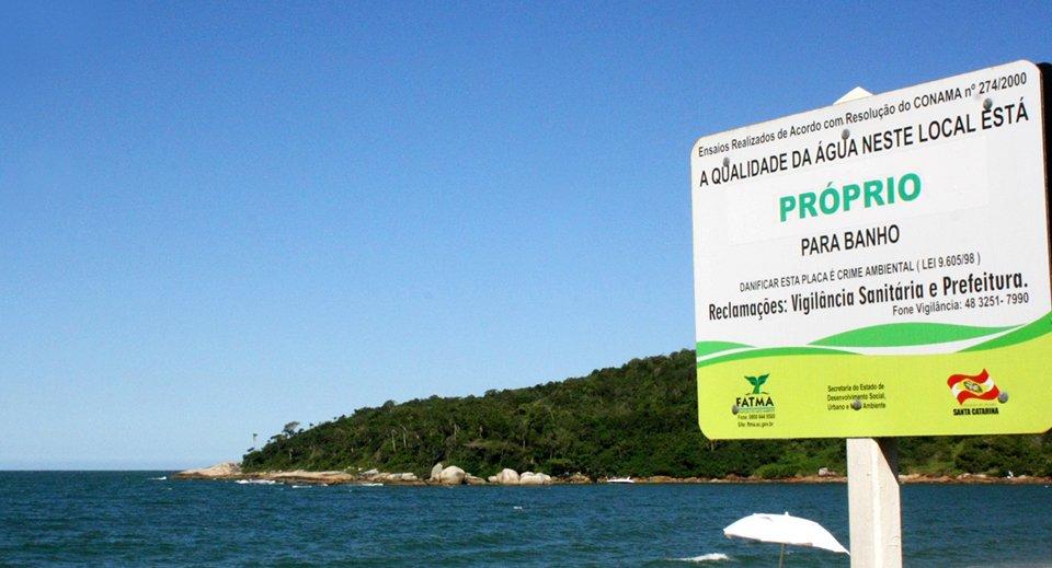 balneabilidade praias de Florianópolis