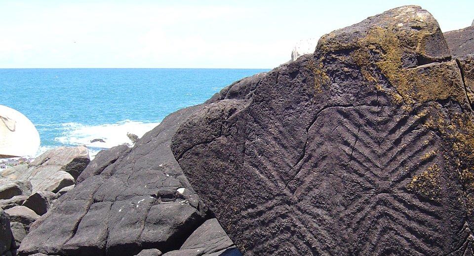 sítio arqueológico na ilha do campeche