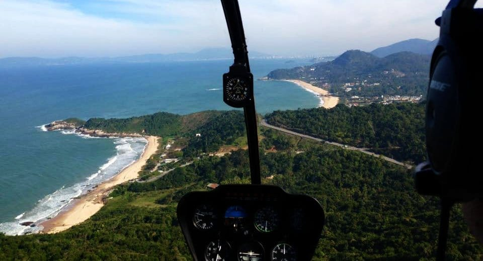 passeio de helicóptero em Florianópolis