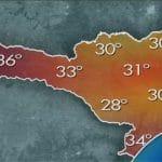 temperatura em santa catarina