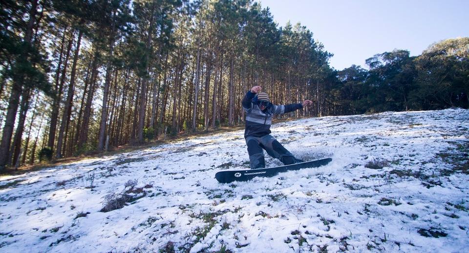 Em 2013 nevou em Rancho Queimado – Foto: James Thisted