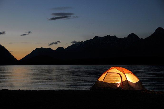 lugares para acampar em Florianópolis