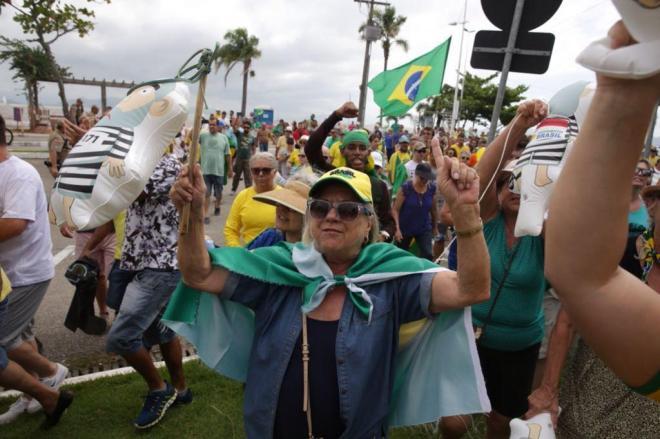 ato contra lula em Florianópolis