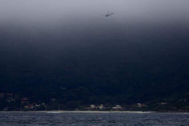 Baleia presa em Florianópolis