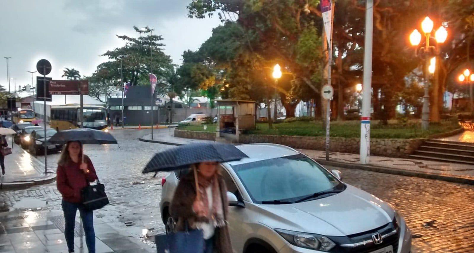 chuva forte em Santa catarina