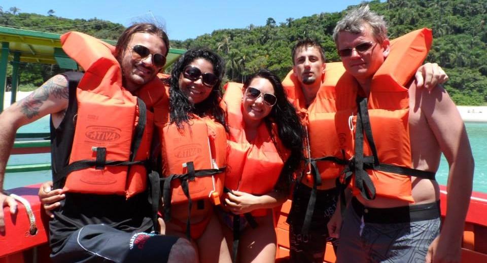 Eu, Val (minha digníssima rs), Sara, Diogo e Magrão. Hora de partir!
