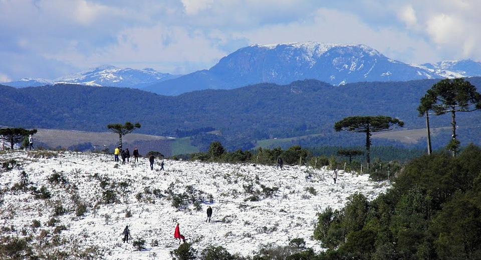 Em 2013 nevou em Rancho Queimado