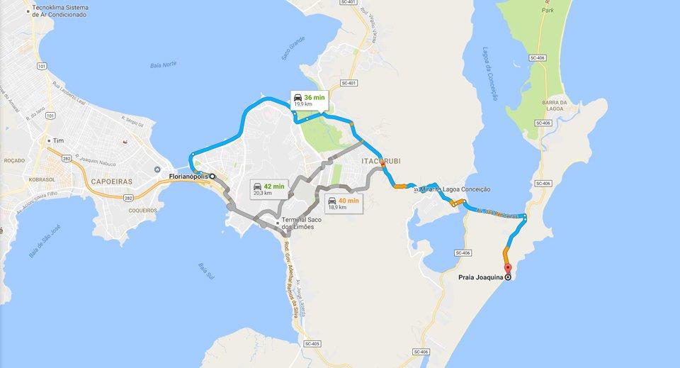 mapa de floripa