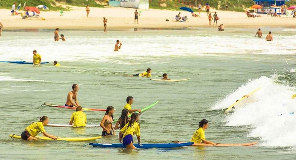 surfe na barra da lagoa