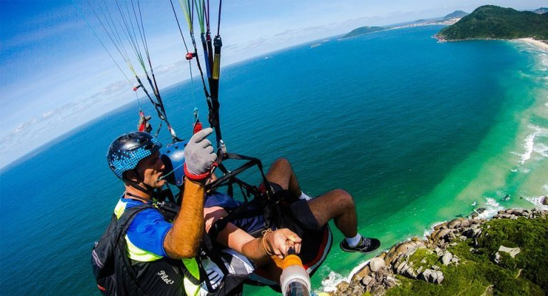 voo de parapente em Florianópolis