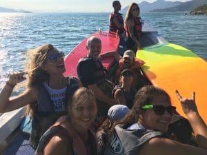 Standup Paddle Passeio \Naufragados retorno de barco