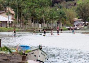 Standup paddle passeio Barra da Lagoaa