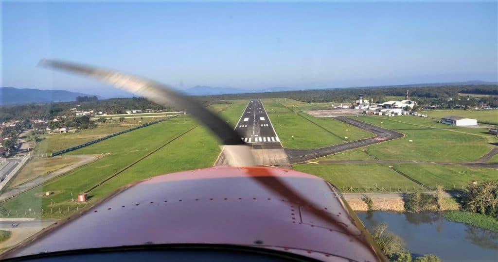 Voo panoramico de avião em Florianopolis